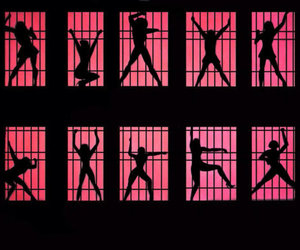 cell block tango, red lights, and cute image
