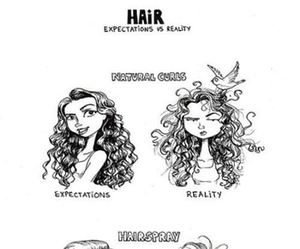 girl, hair, and reality image