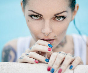 beauty, inked, and underwear image