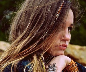 beautiful, girl, and braids image