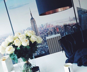 flowers, rose, and new york image
