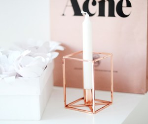 acne, rosegold, and candle image