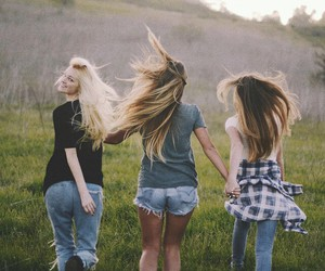 girl, hipster, and friends image