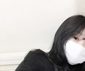 asian, black, and face mask image
