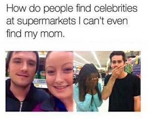 funny, celebrity, and supermarket image