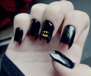 batman, nails, and black image