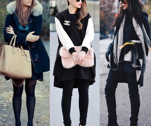 style, black, and winter image