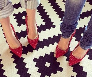 shoes, louboutin, and red image
