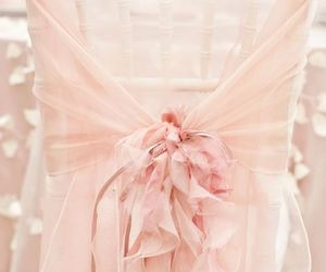 pink, wedding, and chair image
