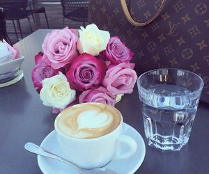 coffee, tea, and flowers image