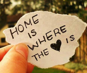 home, love, and heart image