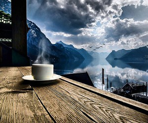 coffee, mountains, and nature image