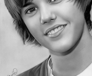drawing, justin bieber, and art image