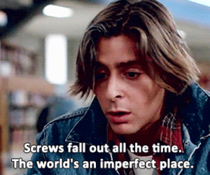 The Breakfast Club, quote, and imperfect image