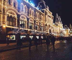 lights, moscow, and russia image