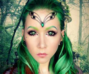 beautiful, green, and elf image