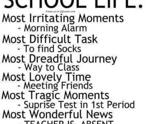 school, life, and funny image