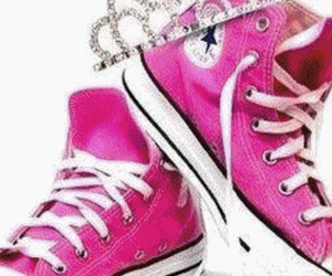 converse, pink, and shoe image