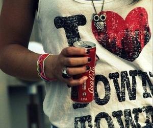 girl, coca cola, and owl image