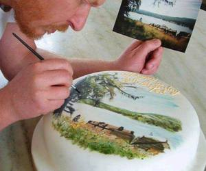 cake, art, and picture image