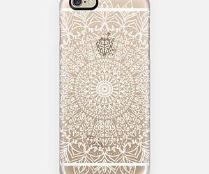 iphone, mandala, and white image