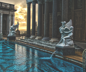 architecture, pool, and city image