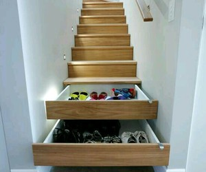drawer, room, and stairscase image