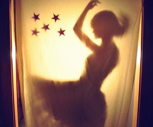 stars, girl, and light image