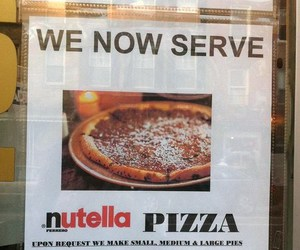 nutella, pizza, and food image