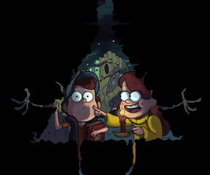twins, mabel, and dipper image
