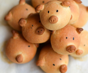 bread, food, and pig image