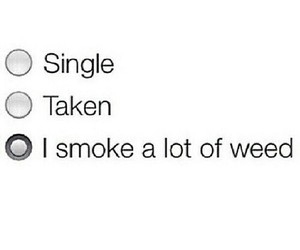 smoke, single, and weed image