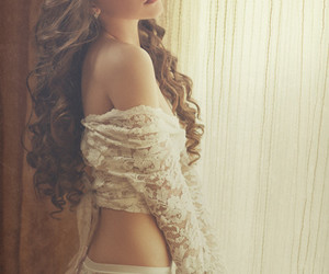 curly, beauty, and girl image