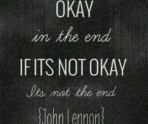 quote, john lennon, and okay image