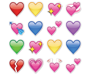 heart, emoji, and stickers image