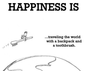 happines, toothbrush, and traveling image