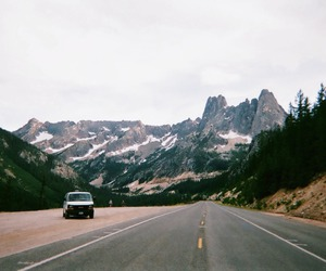 mountains, nature, and vintage image