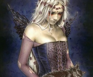 victoria frances, angel, and cat image