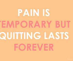 quote, pain, and quit image