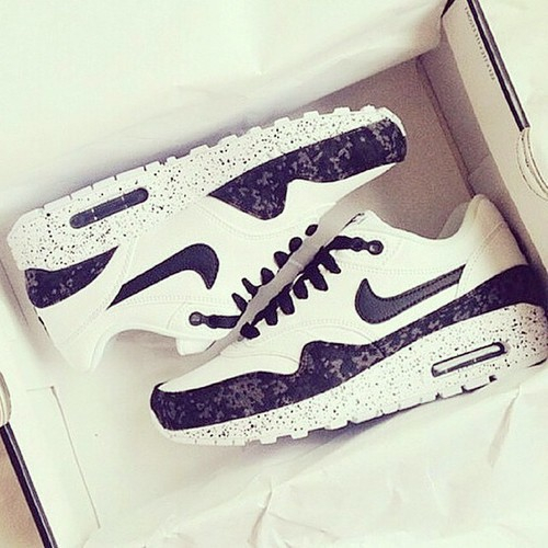 black and white, nike, and love image