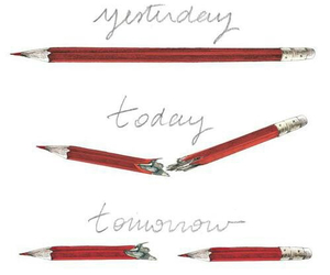 pen, pencil, and tomorrow image