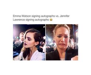 emma watson, Jennifer Lawrence, and funny image