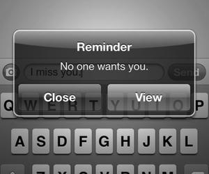 sad, text, and reminder image