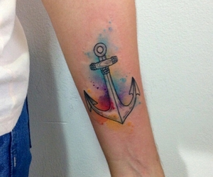 tattoo, colors, and anchor image