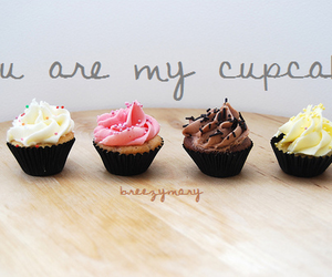 cupcake, typography, and love image