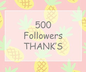 500, followers, and thanks image