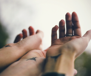 hands, friends, and tattoo image