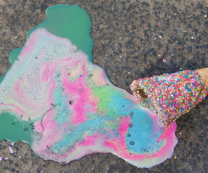 ice cream, rainbow, and colors image