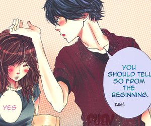 anime, couple, and ao haru ride image