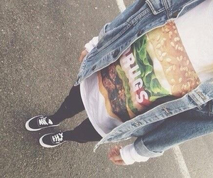 black, outfit, and food image